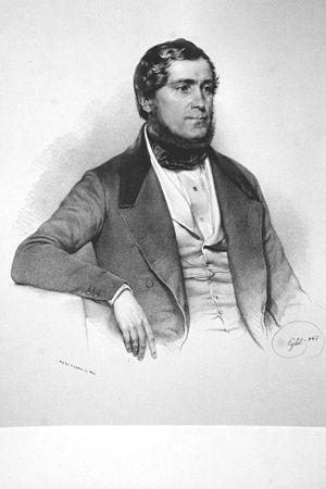 Matthias von Schönerer - Mathias Schönerer, Lithograph by Franz Eybl, 1846