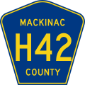Mackinac County H-42.svg
