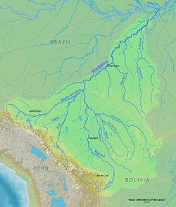 Localización en la cuenca del río madeira
