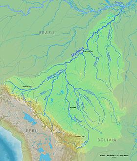 Carte Amerique Latine Avec Fleuves.Rio Madeira Wikipedia