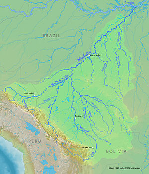 Map of the Madeira River watershed