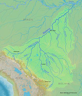 Madeira River - Image: Madeirarivermap
