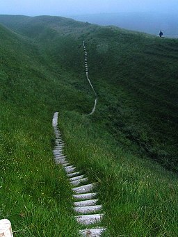 Maiden castle footpath - geograph.org.uk - 363708