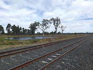 Main Line railway, Queensland - The railway at Lanefield, 2015