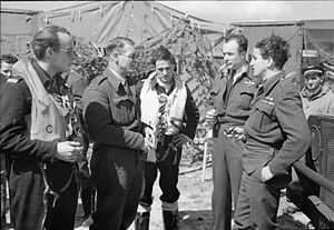 Malan and RAF officers D Day IWM CL 29.jpg