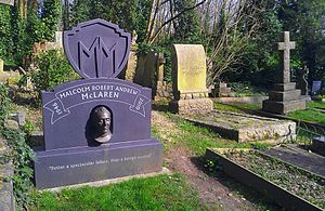 Malcolm McLaren - McLaren's grave in the eastern part of Highgate Cemetery