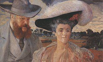 Karolina Lanckorońska - Lanckorońska's parents. Painting by Malczewski