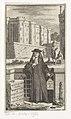 Man voor de Bastille in Parijs Histoire van de Bastilje of inquisitie van staat in Vrankryk (titel op object) Titelpagina voor René Auguste Constantin de Renneville, Historie van de Bastilje of inquisitie van staat in , RP-P-2016-1922.jpg