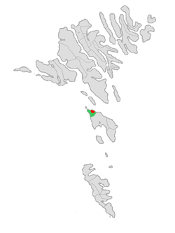 Location of Skopunar kommuna in the Faroe Islands