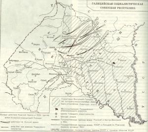 Galician Soviet Socialist Republic - Image: Map GSSR cr