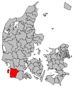 Tønder Municipality - Location of Tønder municipality