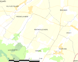 Mapa obce Pertheville-Ners