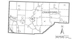 Location of Adamsville in Crawford County
