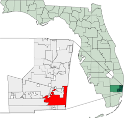 Map of Florida highlighting Hollywood.png