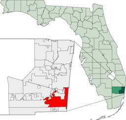 Geografiskt läge i Broward County
