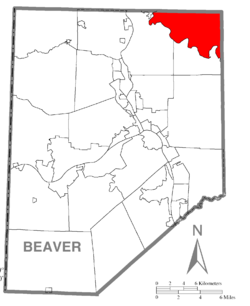 Map of Beaver County, Pennsylvania highlighting Franklin Township