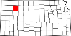 map of Kansas highlighting Sheridan County