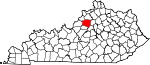 State map highlighting Shelby County