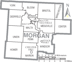 Municipalities and townships of Morgan County