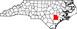 Map of North Carolina highlighting Duplin County.svg