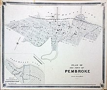 Photograph of 1880 map of the Town of Pembroke.