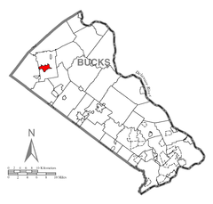 Map of Quakertown, Bucks County, Pennsylvania Highlighted.png