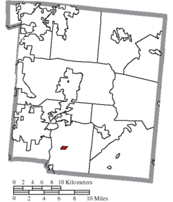 Location of Maineville in Warren County