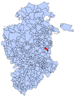 Municipal location of Pradoluengo in Burgos province