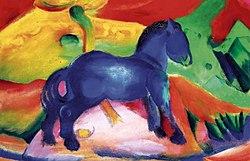 Franz Marc: Blue horse