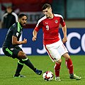 Marcel Sabitzer of Austria vs Ashley Williams of Wales.jpg