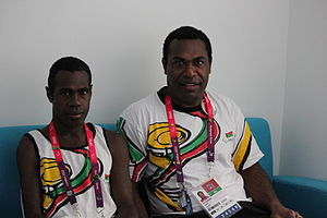 Vanuatu at the 2012 Summer Paralympics - Marcel and his coach in London