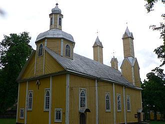 Marcinkonys - Wooden church of Marcinkonys (built 1880)