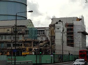 Marco Polo House - Marco Polo House demolition underway