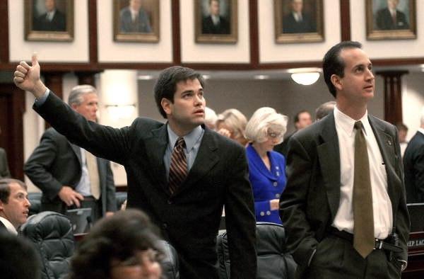 Marco Rubio and Mario Diaz-Balart in the House chamber