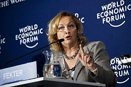 Maria Theresia Fekter - World Economic Forum on Europe 2011.jpg