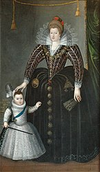 Charles Martin: Portrait of Maria de' Medici and her son Louis XIII