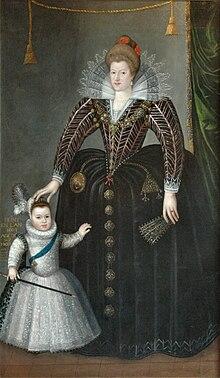 Maria de' Medici con il figlio primogenito, il futuro Luigi XIII