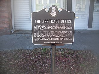 Marianna, Florida - Historic Abstract Office, Downtown Marianna