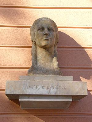 Marie Kudeříková - Bust of Marie Kudeříková by Vojtěch Hořínek from 1966 in Olomouc, Czech Republic.