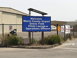 Marin County Airport - Marin County Airport sign