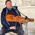 Mariusz Radwanski playing Nyckelharpa, Cornouaille, Finistere, Brittany, France.jpg