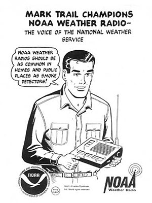 NOAA Weather Radio - Public service announcement featuring comic strip character Mark Trail promoting NOAA Weather Radio