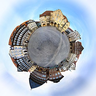 Hildesheim - Spheric Panorama of the Market Place