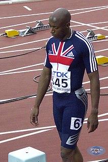 Marlon Devonish English sprinter