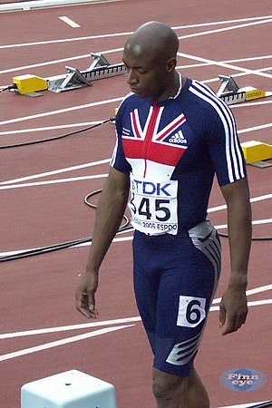 Marlon Devonish - Devonish at the 2005 World Championships in Helsinki