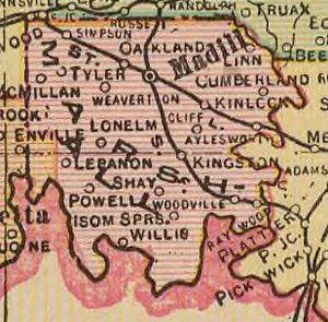 Marshall County, Oklahoma - Map of Marshall County, 1909