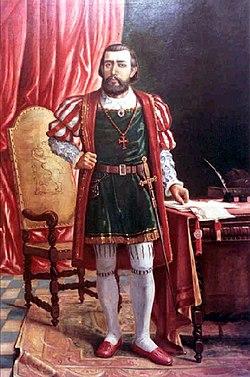 Martim Afonso de Sousa, por Benedito Calixto.