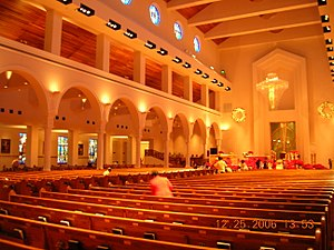 Roman Catholic Diocese of Orlando - The interior of the Basilica of Mary, Queen of the Universe.