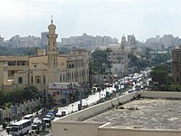 Masqid and church in Alexandria, Egypt.JPG