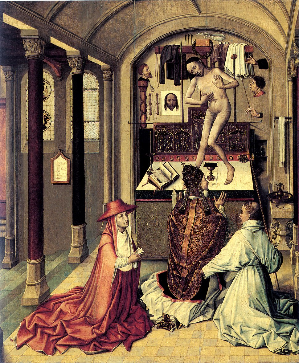 Mass of Saint Gregory (1440) by Robert Campin